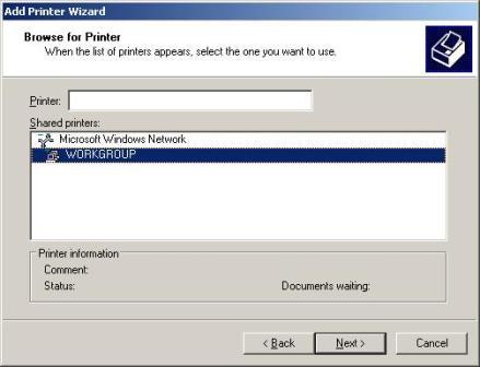 Pilih Printer yang terhubung dengan jaringan anda (printer yang ...